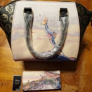 Loungefly lion king purse and wallet